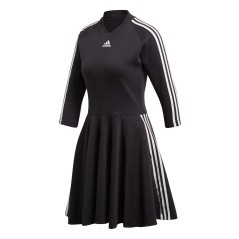 Kleid Damen Three Stripes Dress Vorderseite