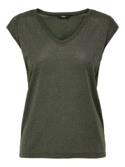 Top Donna V Neck Lurex
