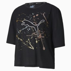 T-Shirt Fitness Donna Metal Splash