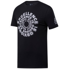 T-shirt Uomo Crossfit Excellence Tee Nero