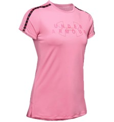Women T-shirt Sports a Branded Pink Front Pink