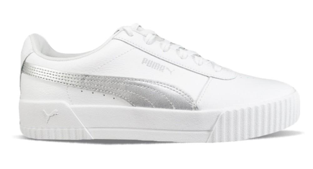 puma donna scarpe dotate e bianche