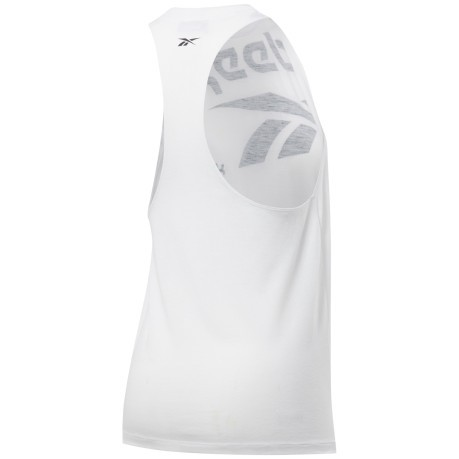 Canotta Donna Workout Ready Big Logo Bianco Frontale