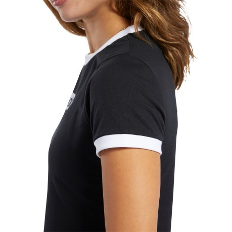 T-shirt Donna Essentials Linear Logo Tee nero Frontale