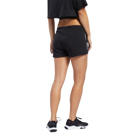 Short Donna Essentials Linear Logo Tee Nero Frontale
