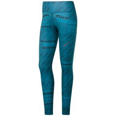 Corsaro Donna Tight Workout Ready Allover print Verde Frontale