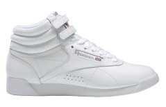 Women Shoes Freestyle Hi White Silver Side