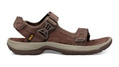 Sandalo Uomo Trekking Tanway Leather Marrone Laterale