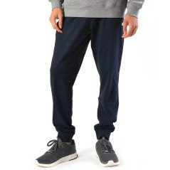 Men's pants with cuff Worn blue Front