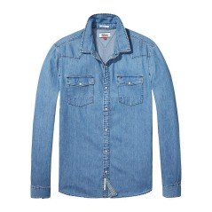 Camicia Jeans Uomo Basic Denim