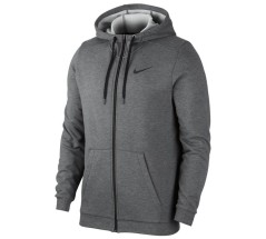 Felpa Uomo Full-zip Training Hoodie Dri-FIT grigio fronte