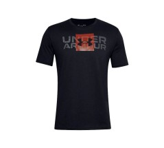 T-Shirt Uomo UA Box Logo Wordmark nero