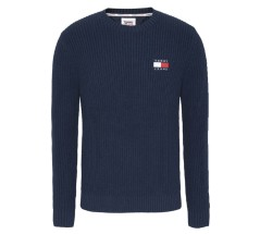 Pullover Uomo TJM Tommy Badge Sweater blu