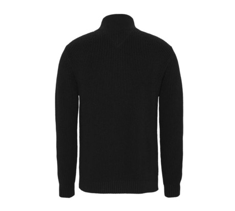 Felpa Uomo TJM Tommy Badge Half Zip nero