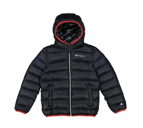 Piumino Junior Outdoor Hooded blu rosso