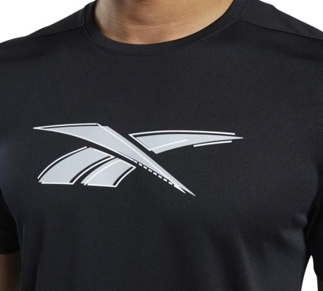 T-Shirt Workout Ready Graphic Poly nero