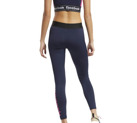 Leggings Donna Pant Training Essentials Linear Logo nero