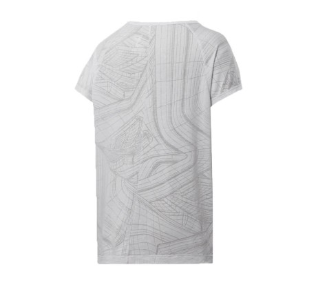T-Shirt Donna Burnout Tee bianco