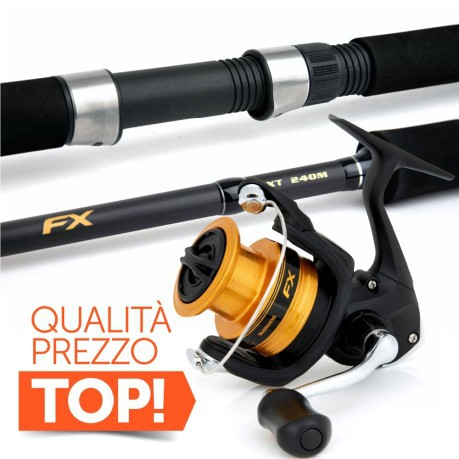 Combo Spinning Canna FX 21ML + Mulinello FX 2500