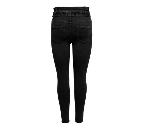 Jeans Donna Hush Life Mid Ankle Paperbag Skinny nero