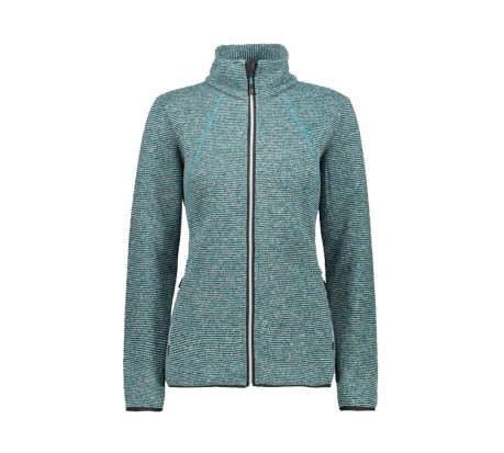 Pile Donna Jacket Knit-tech Zig Zag +6 grigio
