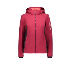 Giacca Donna Full Zip Hooded Softshell grigio rosa