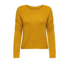 Maglione Donna Lexy Pullover Loose Fitted Knitted giallo