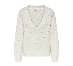 Maglione Donna Pullover Mary Detailed Knitted bianco