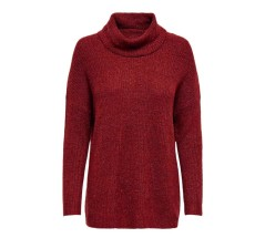 Maglione Donna Pullover Mirna High Neck Knitted marrone