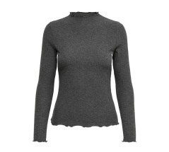 T-Shirt Donna Emma Long Sleeved Lupetto Top grigio