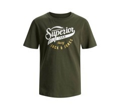 T-Shirt Junior JJ ELogo O-Neck Tee Noos verde