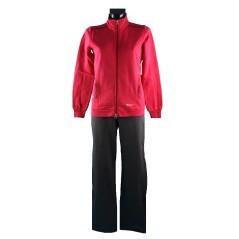Tuta donna modello Easy Fit Full Zip rosa grigio