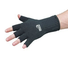 Guanti Pesca Technical Merino Glove Fingerless nero