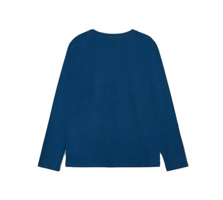 T- Shirt Laus Long Sleeve Top blu