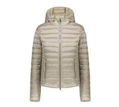 Piumino Donna Aghata Satin Hooded grigio