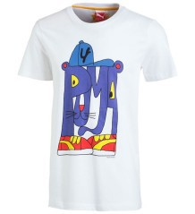 T-shirt X Tee blu
