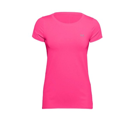 T-Shirt Donna UA HeatGear Armour SS verde