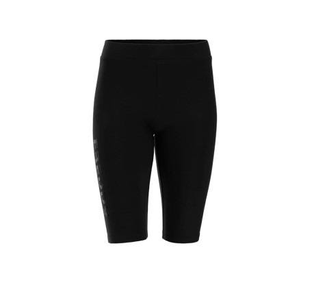 Pantaloncini Biker Donna Basic Cotton Logo nero