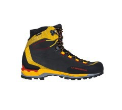 Scarponcini Trekking Uomo Trango Tech Leather GTX nero giallo