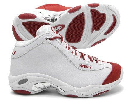 996acd0b7a19 Scarpe da basket unisex TAI CHI MID colore Bianco Rosso - And1 ...