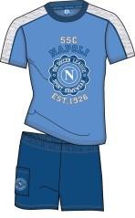 Pigiama Napoli azzurro