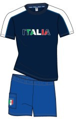 Pigiama Italia azzurro
