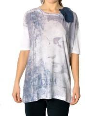 T-shirt donna Over Con Fiore