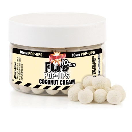 Coconut Cream Fluro Pop-Ups 10 mm