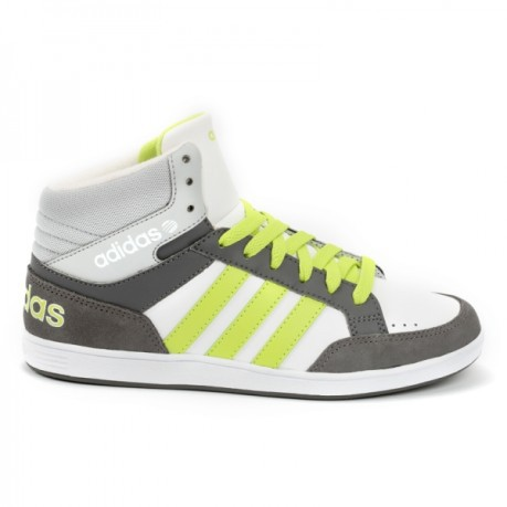 Baby shoes Vlneo Hoops Mid K colore Grey Yellow - Adidas - SportIT.com 84cf05267bcf
