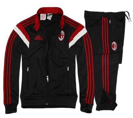 d0ad93751723b9 Baby tracksuit AC Milan Pes Suit colore Black Red - Adidas - SportIT.com