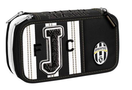 6ab3f5fad0 Pencil case triple-Juventus colore White Black - Best Point ...