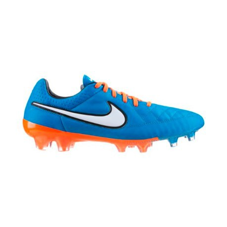 more photos 16067 28ebc Mens football boots Tiempo Legend V FG colore Light blue Orange ...