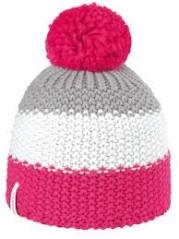 Cappello Ski Pon rosa-bianco