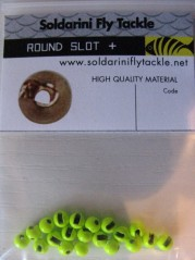 Tungsten Bead slot round gold